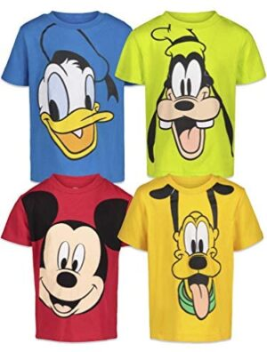 Disney Mickey Mouse 4 Pack Short Sleeve T-Shirts