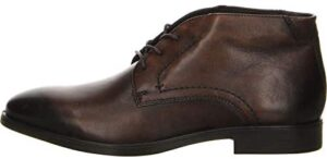 ECCO Mens Melbourne Leather Burnished Chukka Boots