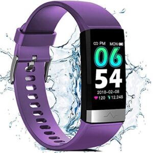 FITVII Waterproof Fitness Tracker for Women Men,1.14'' HD Screen SpO2 Health Watch with Heart Rate Blood Pressure HRV Monitor,Activity Tracker with Blood Oxygen Sleep Pedometer for iOS Android Phones