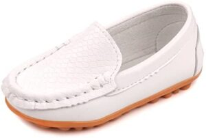 Femizee Toddler Boys Girls Loafers Shoes Casual Moccasin Slip On Dress Wedding Shoes for Kids