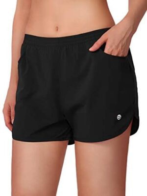 """G Gradual Women's Running Shorts 3"""" Athletic Workout Shorts for Women with Zipper Pockets"""