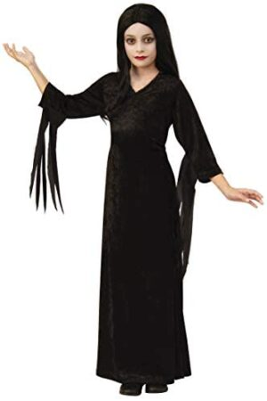Girls Morticia The Addams Family Dress Costume