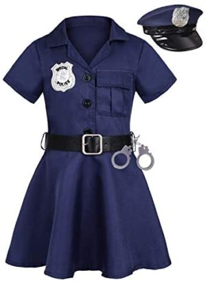 Gotbuop Girls Police Officer Costume Halloween Cosplay Costume