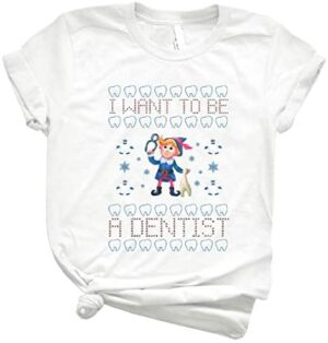 Hermey The Elf I Want To Be A Dentist Tshirt Christmas Family Christmas Shirt Trending Graphic Tee- Cool Summer Tee For Men- Funny Gifts Shirt- Women's Clothing Customized Shirt