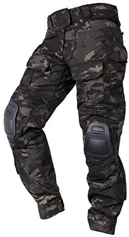 IDOGEAR G3 Army Combat Pants Knee Pads Multicam/Black Pro for Airsoft Hunting Military Paintball Outdoor Camo Rip-Stop Tactical Trousers