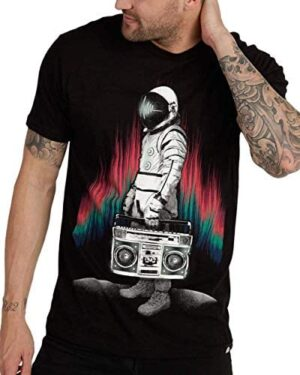 INTO THE AM Graphic Tees for Men - Casual Short Sleeve Plain Crew Neck T-Shirt