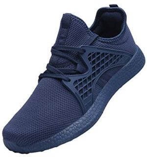 INZCOU Men's Air Knitted Sneakers Ultra Lightweight Non Slip Athletic Running Walking Tennis Shoes