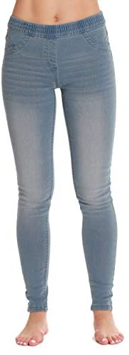 Just Love Denim Jeggings for Women with Pockets Comfortable Stretch Jeans Leggings