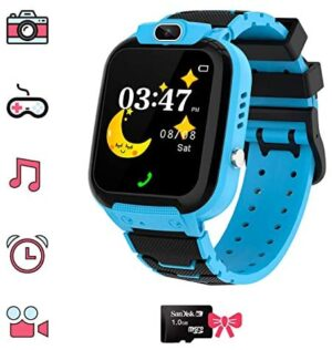 Kids Games Watchs - HD Touch Screen Game Smart Watch with MP3 Music Player Calculator Alarm Clock Camera 7 Games Watchs for Boys Girls Birthday Gifts, Suitable for Aged 4-12(Blue)