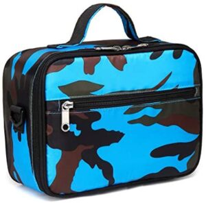 Kids Insulated Lunch Bags for Boys Lunch Box Carrier for Girls for School Food Cooler (Camo Blue)