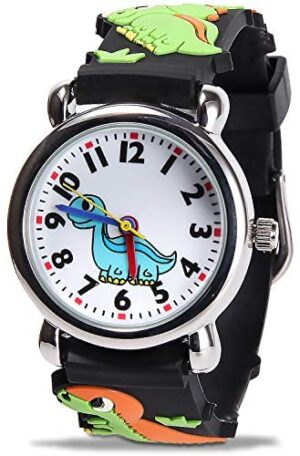 Kids Waterproof Watch, Cute 3D Cartoon Children's Watches with Easy-to-Read Numbers and Pointers, are The Best Gifts for Teaching Children Aged 3-12 How to Distinguish Time.