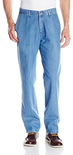 Lee Men's Stain Resistant Relaxed-Fit Flat-Front Denim Pant