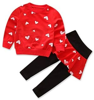 Little Girl Clothes Infant Outfits Set 2 Pieces Long Sleeved Tops and Pants