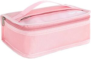 MIER Small Lunch Box Kit for Men Women Kids Teen Boys Girls Portable leakproof Insulated Lunch Bag for Work School, Mini Cooler (Pink)