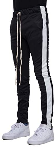 Men's Stripe Track Pants Slim Fit With Ankle Zippers