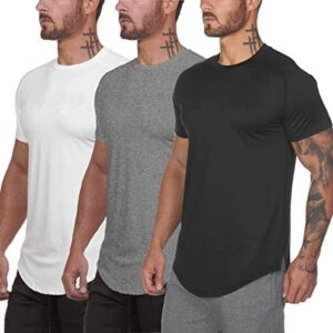 Muscle Killer 3 Pack Men's Gym Workout Bodybuilding Fitness Active Athletic T-Shirts Workout Casual Tee