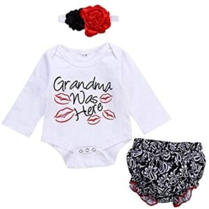 Newborn Girl Clothes Long Sleeve Romper Set Baby Clothes Outfits for Girl
