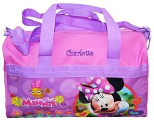 """Personalized Licensed Kids Travel Duffel Bag - 18"""" (Pink Minnie Mouse)"""