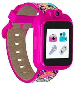 PlayZoom LOL Surprise! and LOL Surprise! O.M.G. Smartwatch for Kids with Swivel Camera, Photo Filters, Video Recorder, Stopwatch, Calendar, Sound Animations, and Games (Splatters & Neon Q.T.)