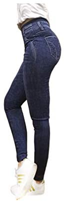 Pockets High Waist Sexy Comfortable Slimming One Size MAX Size 12 Stretch Durable Women Skinny Jegging Leggings Demin Style