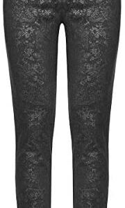 Prime Quality Men's Syndicate Trousers Pants Steampunk Black Brocade Vintage Gothic Victorian