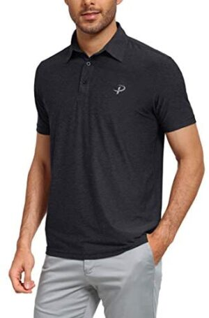 Pudolla Men's Dry Fit Golf Polo Shirts Athletic Short Sleeve Casual Polo Shirts for Men