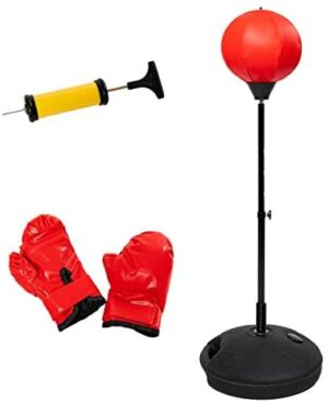 Punching Bag for Kids with Boxing Gloves,Hand Pump,Adjustable Kids Punching Bag with Stand,3-12 Year Old Boys & Girls Toy