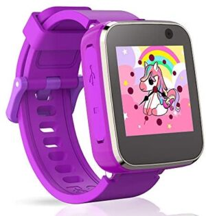 Pussan Smart Watch for Kids Girls Toddler Watch Toys for 3-8 Year Old Touchscreen USB Charging with Selfie Camera Music Player Alarm Flashlight Game Watch for Kids Christmas Birthday Gifts