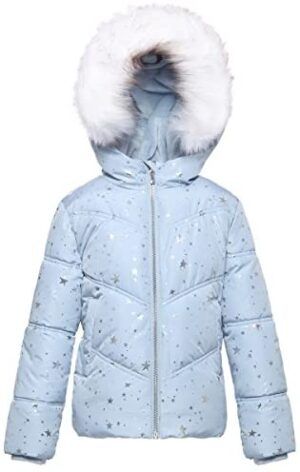 Rokka&Rolla Girls' Water-Resistant Soft Lined Heavy Padded Winter Coat Quilted Parka Anorak Puffer Jacket