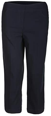 SLIM-SATION Women's Golf Wide Band Pull-On Capri Pant with Real Front Pockets