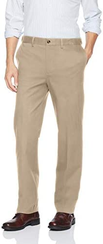 Savane Men's Flat Front Stretch Ultimate Performance Chino
