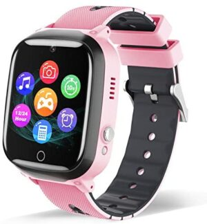 Smart Watch for Kids - Children Smartwatch Boys Girls with 7 Intelligent Games Music MP3 Player HD Selfie Camera Calculator Alarm Timer 12/24 Hours for 4-12 Years Old Students (Pink)