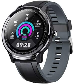 """Smart Watch for Men Women Fitness Tracker for Android/iOS Phone Activity Tracker 1.3"""" Touch Screen, Blood Oxygen Meter, Heart Rate Sleep Monitor IP68 Waterproof Ultra-Long Battery Life, Gray"""