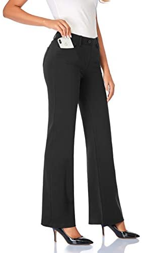 Tapata Women's 30''/32''/34'' Stretchy Bootcut Dress Pants with Pockets Tall, Petite, Regular for Office Work Business