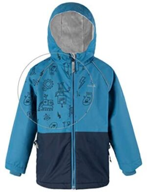 Therm Boys Rain Jacket, Lightweight Raincoat with Magic Pattern - Fleece Lined - Toddler Kids Youth