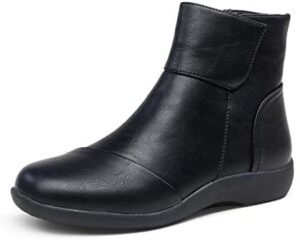 VEPOSE Women's Ankle Boots Lace Up Lightweight Flat Riding Booties