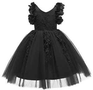 Weileenice 1-12T Flower Girl Lace Dress Pageant Kids Christmas Party Dresses
