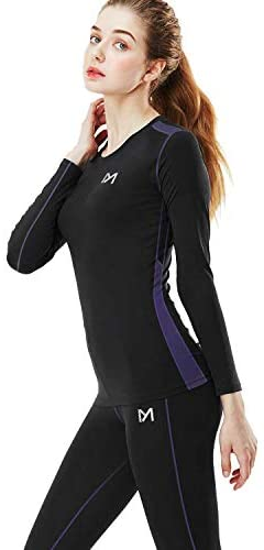 Women's Thermal Underwear Set, Winter Compression Long Johns Base Layer Skiing