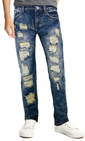 X RAY Skinny Ripped Jeans for Boys – Distressed Slim Fit Denim Pants