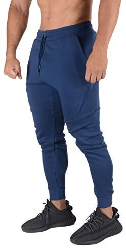 YoungLA Slim Joggers for Men   Skinny Fit Sweatpants   Workout Gym Track Pants with Pockets 207