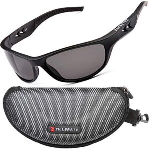 ZILLERATE Polarized Sunglasses For Men - Sport Running Golf Fishing Cycling