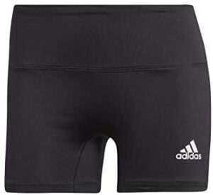 adidas Women's 4-Inch Compression Fit Quarter Length Volleyball Performance Yoga Short Tights