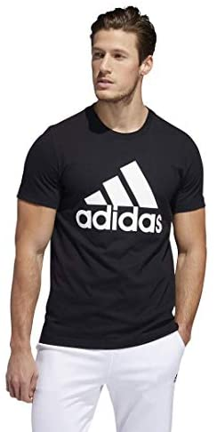 adidas mens Basic Badge of Sport Tee Black/White X-Large/Tall