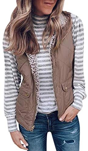 iFOMO 2020 Spring Fall Quilted Lightweight Casual Outerwear Vests for Women