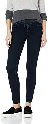 l.e.i. Women's Dorm Pull on Jegging with Tie Detailing in Knit Denim