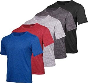 5 Pack: Youth Dry-Fit Moisture Wicking Active Athletic Performance Short-Sleeve T-Shirt Boys & Girls