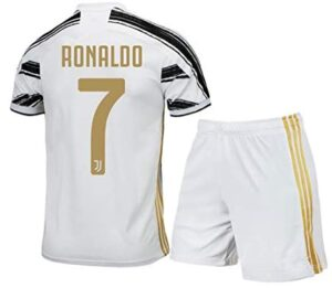 #7 Ronaldo Home Kids/Youth 2020-2021 Season Soccer Shirt Shorts