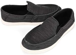ALEADER Mens Canvas Slip-On Loafer, Casual Deck Shoes, All-Day Comfort