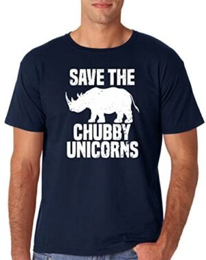 AW Fashions Save The Chubby Unicorn - Funny Quote Tees Hipster Men's T-Shirt
