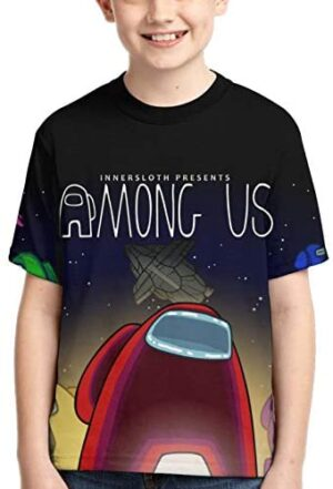 Am-ong Us Kids Shirt 3D Print T Shirts Fashion Graphics Tops Tee for Girls and Boys
